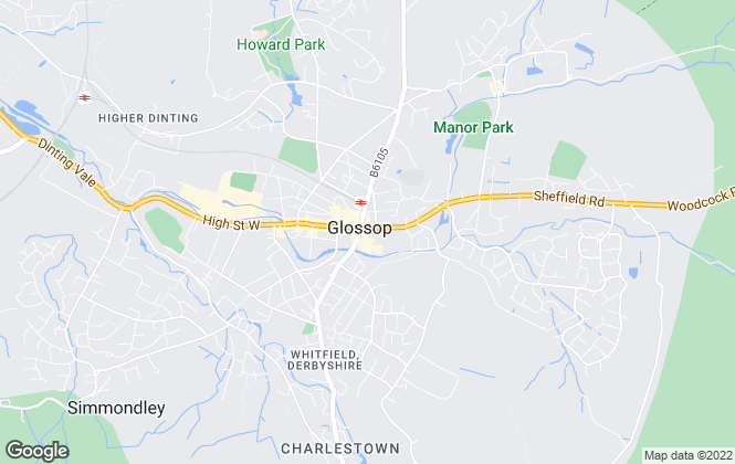 Map for Stepping Stones , Glossop