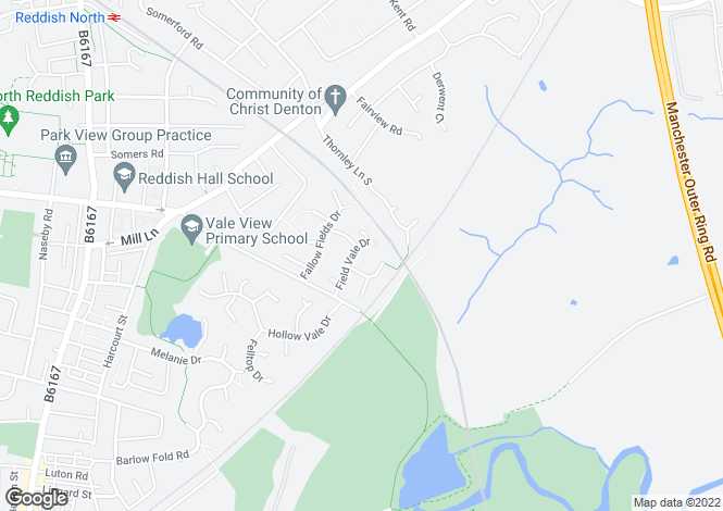 Map for Field Vale Drive, Reddish Vale, Stockport