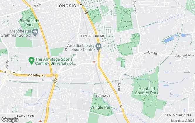 Map for Edward Mellor Ltd, Levenshulme