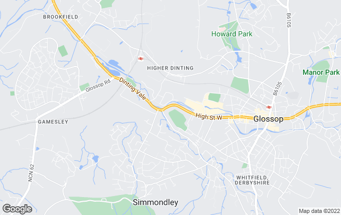 Map for Simple Lettings and Sales, Glossop