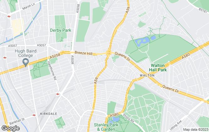 Map for PME Estates, Liverpool