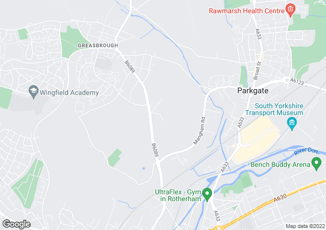 Map for Greasbrough Road, Greasbrough, ROTHERHAM, South Yorkshire