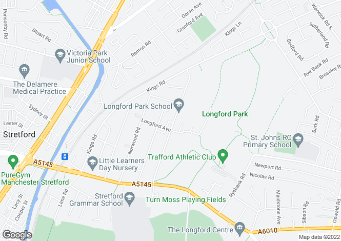 Map for Cromwell Road, Stretford, Manchester