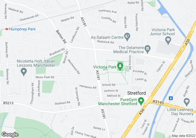 Map for Park Road,