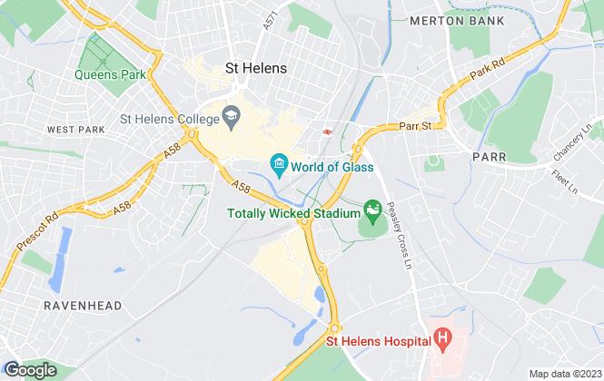 Map for Highton Wiseman, St Helens