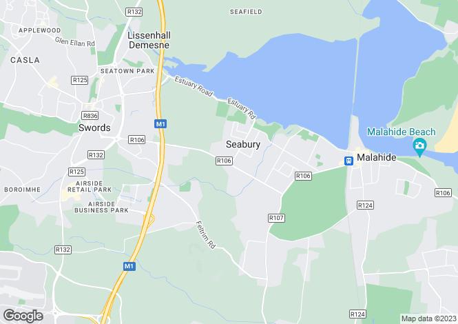Map for Malahide, Co. Dublin