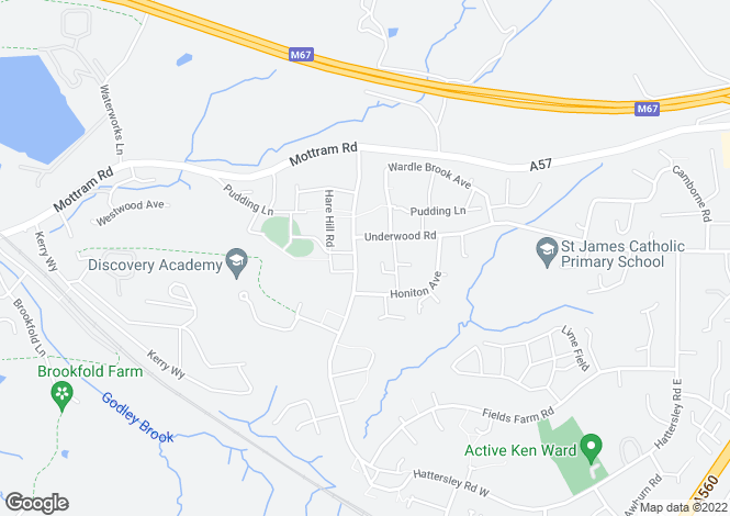 Map for Dee at Pennine View, Hattersley Road West,