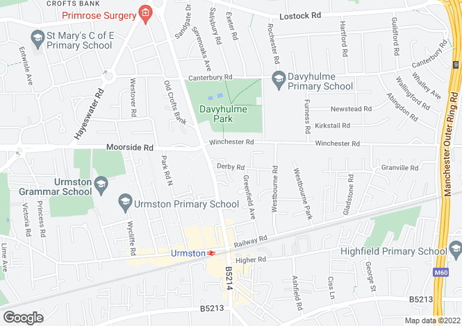 Map for Derby Road,