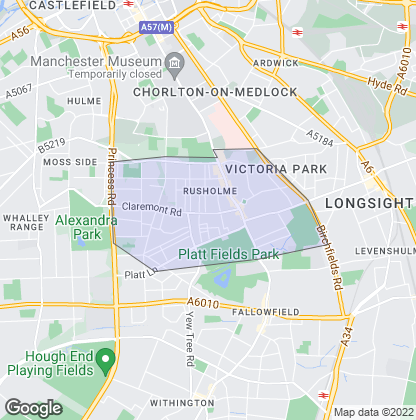 Map of property in Rusholme