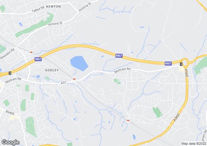 Map for Off Mottram Road, Godley