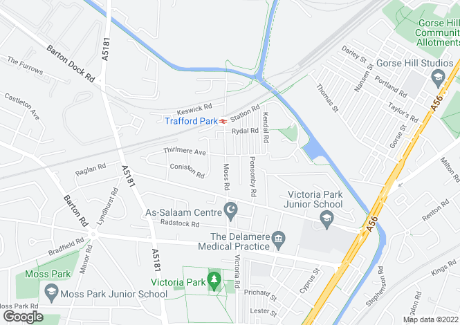 Map for Moss Road,