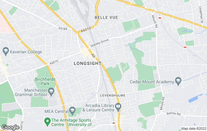 Map for Black Stone Estate Agents, Manchester