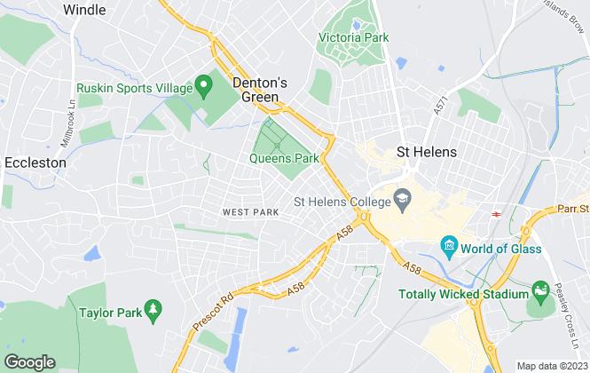 Map for MarkGilbertson.co.uk, St. Helens