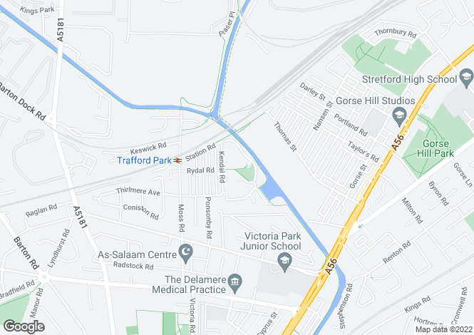 Map for Marland Way, Stretford, MANCHESTER
