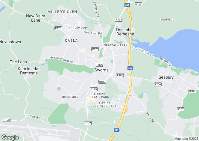 Map for Apt 74 Raven Hall, Swords Central, Swords, County Dublin