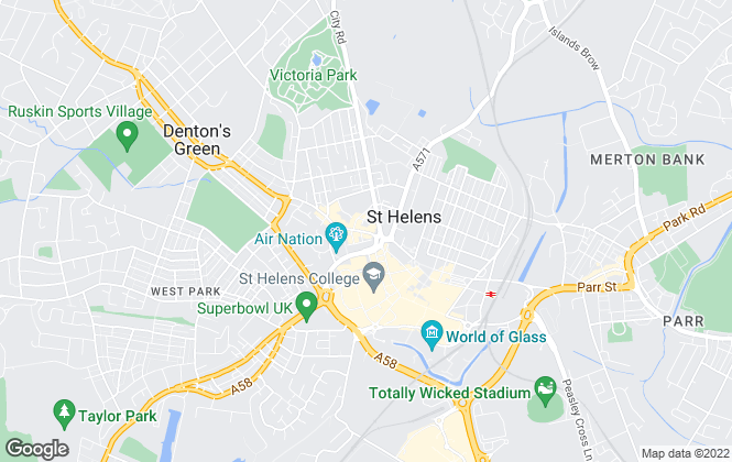 Map for Hyland Estate Agents, St. Helens
