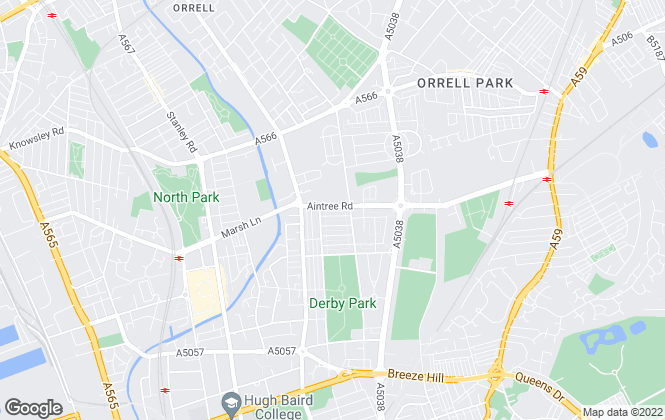 Map for Lyons Estates Ltd, Liverpool