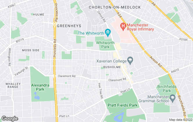 Map for MCR Property Group, Manchester