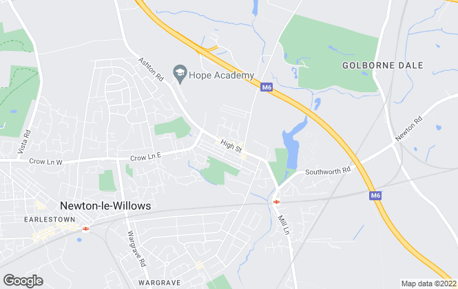 Map for New Brooklands Estate Agents, Newton le Willows