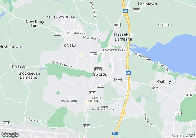 Map for 46 Main Street, Swords, Dublin