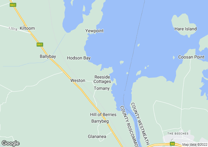 Map for Coolvin Lodge, Barrymore, Athlone, Co. Roscommon, N37 HP80