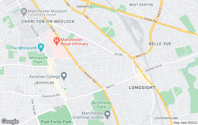 Map for Crossway Estates, Manchester