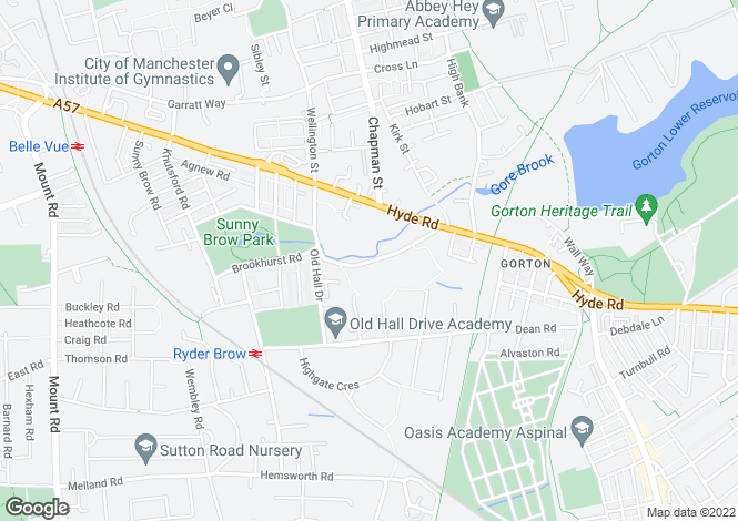 Map for Far Lane, Gorton, Manchester M18