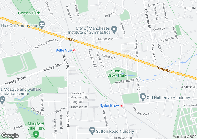 Map for Bakewell Street, Gorton, Manchester, M18
