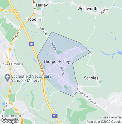Map of property in Thorpe Hesley