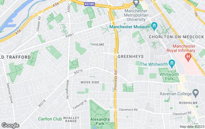 Map for Delisa Miller Estate Agency, Manchester