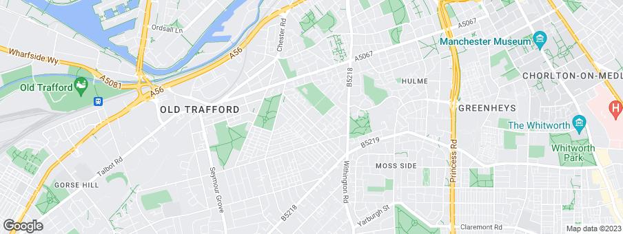 Map for Trafford Housing Trust - Retirement Offer