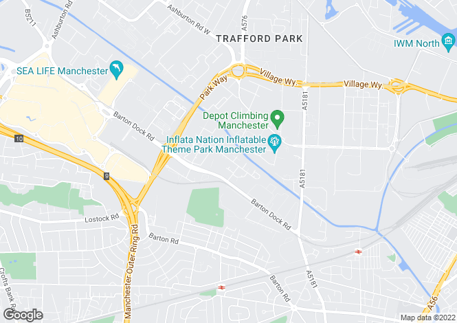 Map for Barton Dock Road,