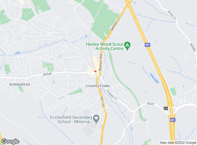 Map for YOUR MOVE, Chapeltown