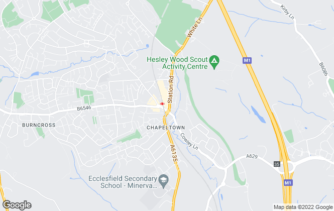Map for YOUR MOVE Lettings, Chapeltown -Lettings