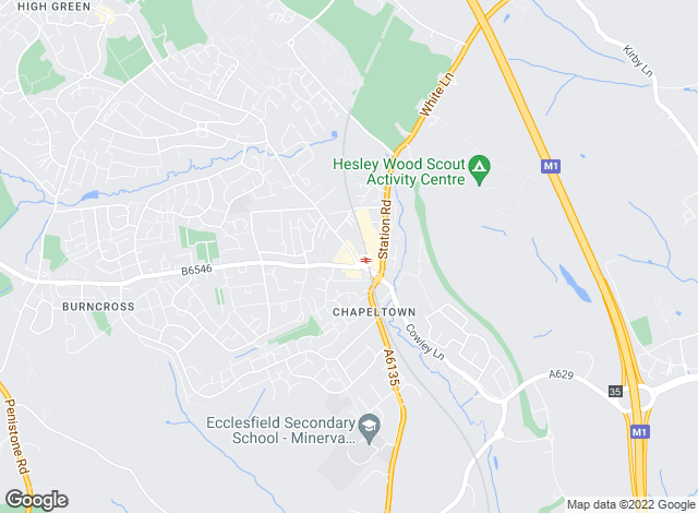 Map for Winkworth, Chapeltown