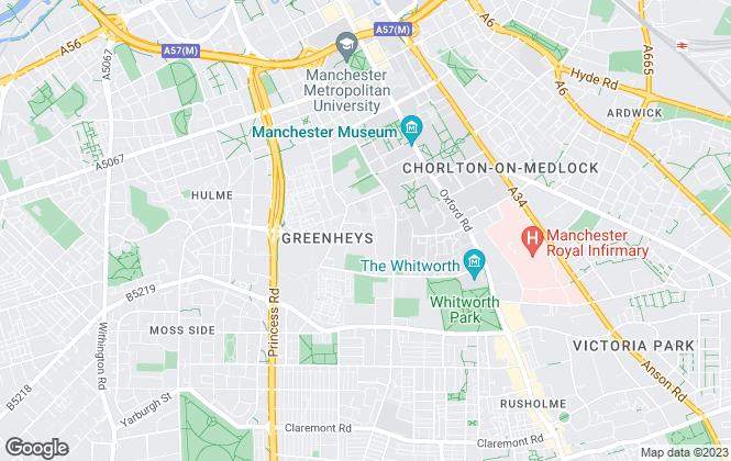 Map for Diverseciti Ltd, Manchester