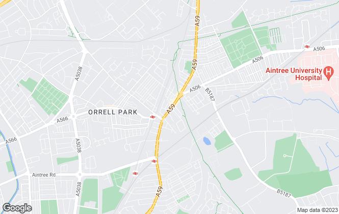 Map for Entwistle Green, Walton Vale