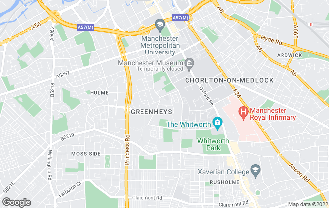 Map for Manchester Science Partnerships, Manchester