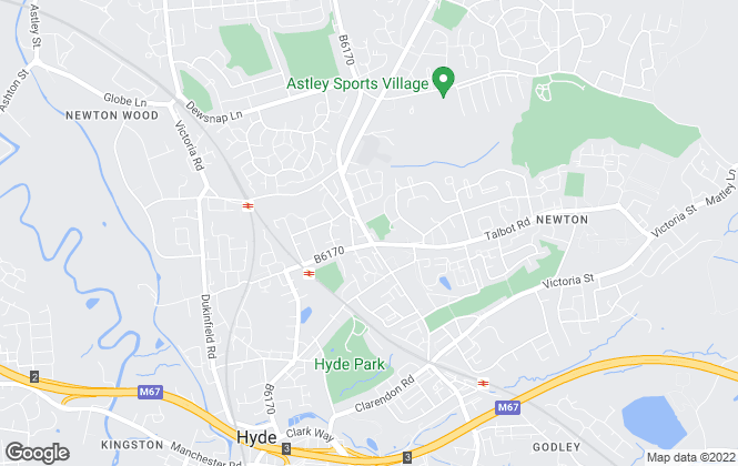Map for Simple Lettings and Sales, Hyde