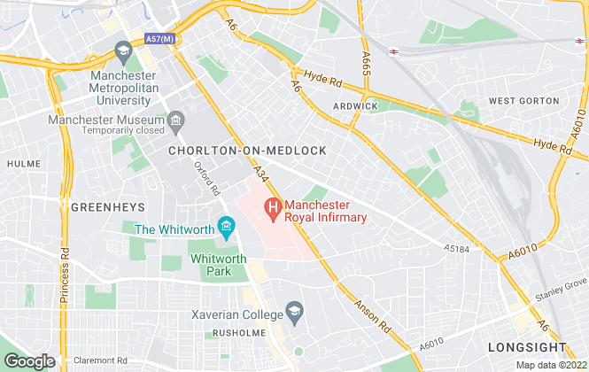 Map for Q3 Apartments Ltd, Manchester