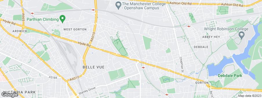 Map for Linden Homes - Manchester