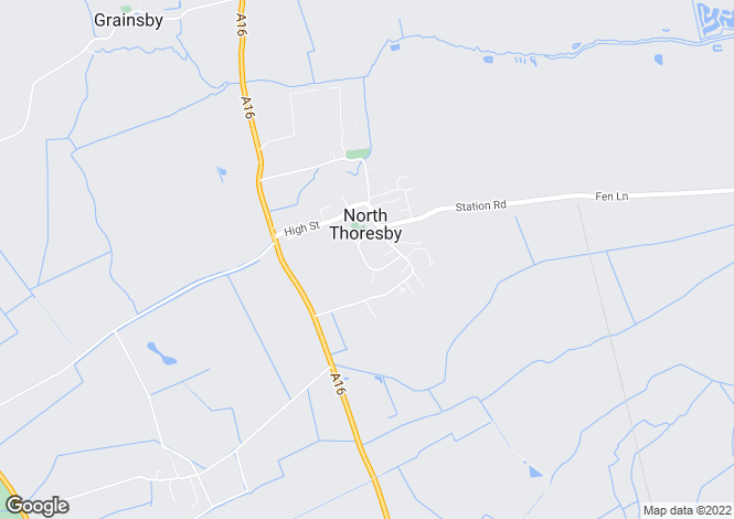 Map for Highfield Road, North Thoresby, Grimsby, Lincolnshire