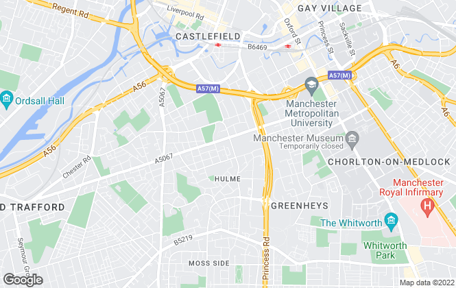Map for George Adams (Estate Agents) Ltd, Manchester - Sales