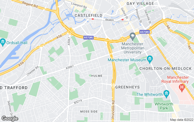 Map for George Adams (Estate Agents) Ltd, Manchester - Lettings