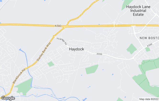 Map for Belvoir, Haydock
