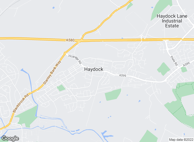 Map for Porterhouse (NW) Ltd, Haydock