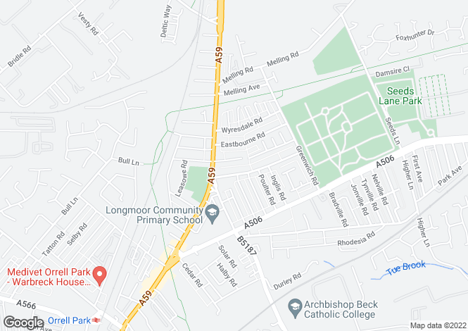Map for Coerton Road,  Aintree, L9