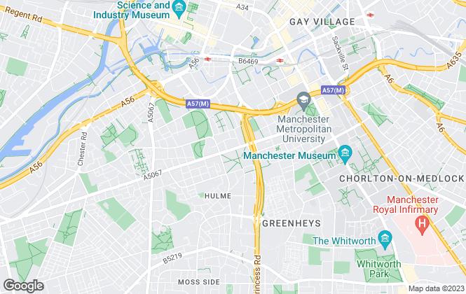 Map for C & R Properties Ltd, Hulme