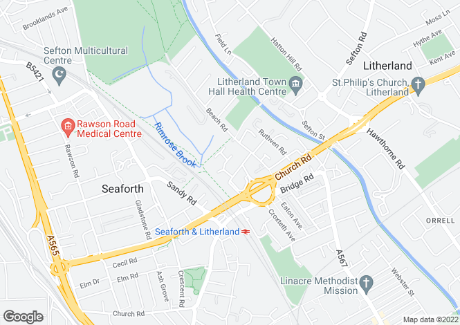 Map for Cullen Drive Litherland