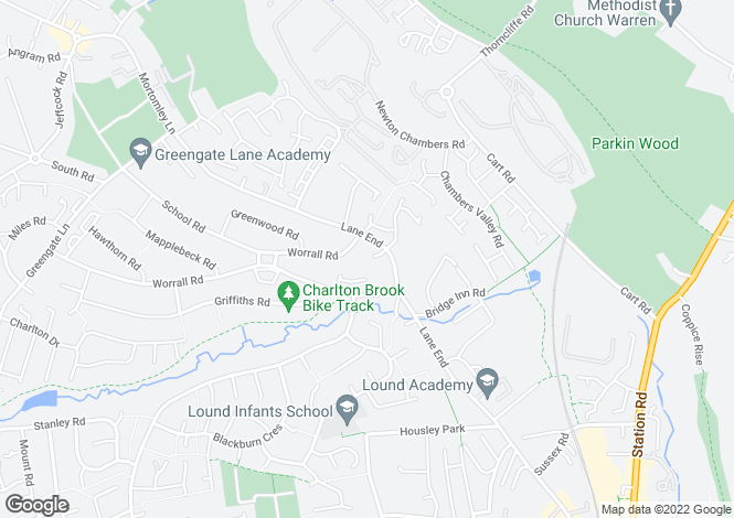 Map for Staindrop Close, Chapeltown, Sheffield, S35